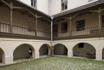 Inner Courtyard of Bishop's Castle (Founded in 13th Century) in Edole