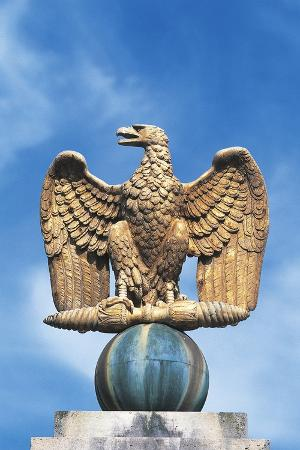 Imperial Eagle at Main Entrance of Palace of Fontainebleau (Unesco World Heritage List