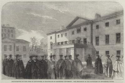 Inauguration of the Duke of Devonshire as Chancellor of Cambridge University