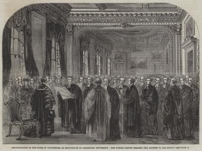 Inauguration of the Duke of Devonshire as Chancellor of Cambridge University