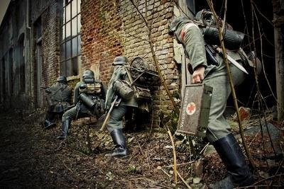 Historical Reenactment: German Patrol