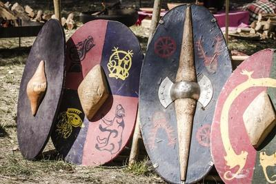 Historical Reenactment: Shields Used by Gaul Warriors in Battle