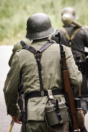 Historical Reenactment: German Soldiers of 26th Panzer Division