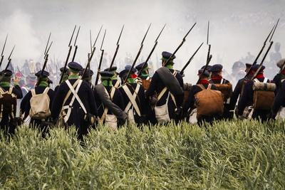 Historical Reenactment: the Prussian Infantry Facing the French Army