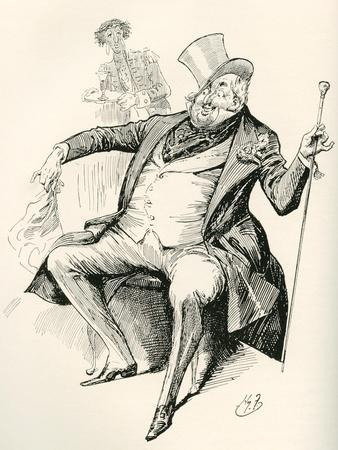 Joey B. Illustration by Harry Furniss for the Charles Dickens Novel Dombey and Son