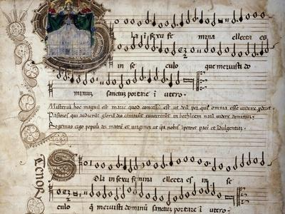 Liber Capella (Song Book) with Music Score of Mass for Four Voices by Heinrich Isaac (1445-1517)