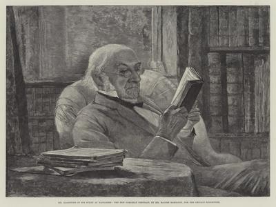 Mr Gladstone in His Study at Hawarden