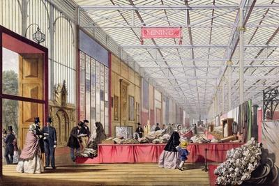 Minerals: Gallery Displaying Rocks and Crystals at the Great Exhibition in 1851