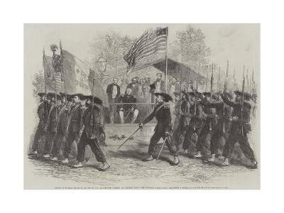 Review of Federal Troops on 4 July by President Lincoln and General Scott