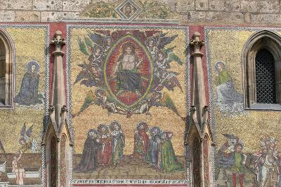 Prague. St. Vitus Cathedral. the Golden Gate. Mosaic of the Last Judgement (1372)