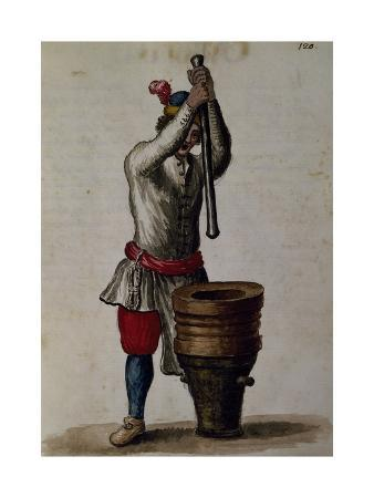 Processing of Treacle (Antidote Against Poison) from Illustrated Book of Venetian Costumes