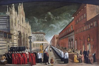 Procession in Piazza Del Duomo (Cathedral Square) in Siena