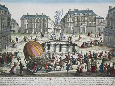 Re-Entry in Paris of Hydrogen Balloon Used by Nicolas Robert and Jacques Charles to Fly from Tuiler