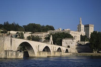 Saint Benezet Bridge over Rhone River and Papal Palace (Unesco World Heritage List