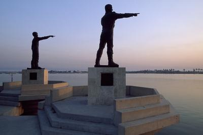 Statues of Iraqi Soldiers Killed During Iran-Iraq War (1980-1988) Which Indicates Iran
