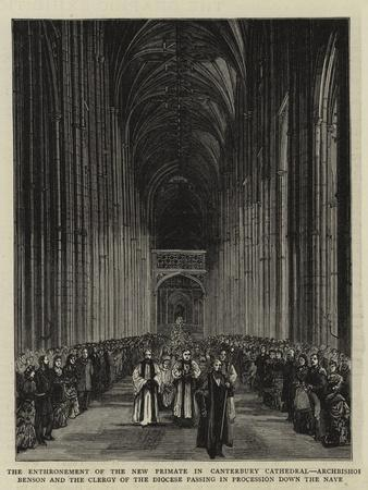 The Enthronement of the New Primate in Canterbury Cathedral