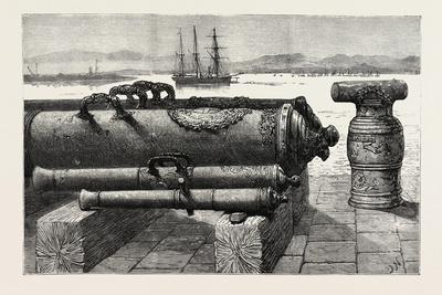 The Guns of H.M.S. Courageux at Gibraltar the Courageux Was Wrecked in 1796