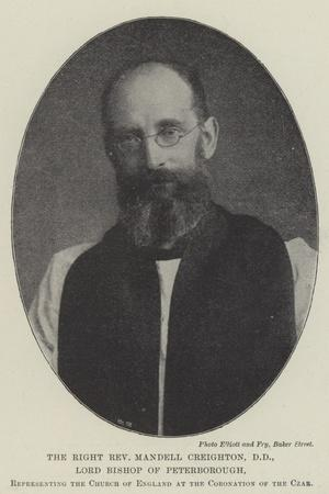 The Right Reverend Mandell Creighton