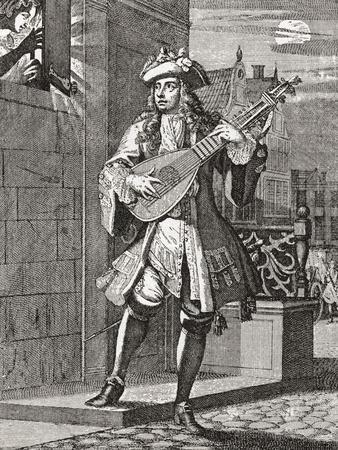 The Love Serenade. after an 18th Century Work in Illustrierte Sittengeschichte Vom Mittelalter Bis