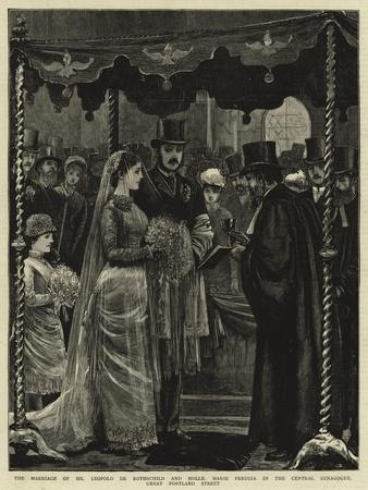 The Marriage of Mr Leopold De Rothschild and Mademoiselle Marie Perugia in the Central Synagogue