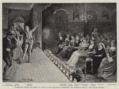 Theatricals before the Queen and Court in the Ball-Room at Balmoral