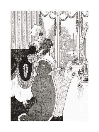 The Toilet after Aubrey Beardsley. from Illustrierte Sittengeschichte Vom Mittelalter Bis Zur Gegen