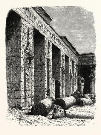 The Ruins of the Palace of Rameses Iii.