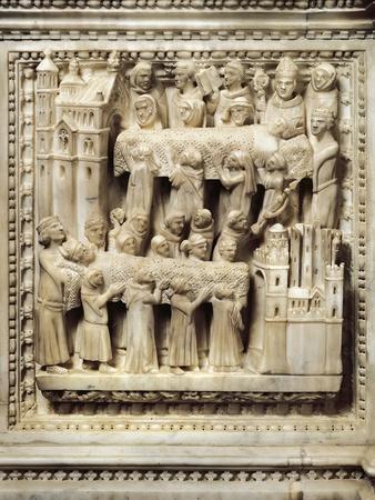Transferring Saint Augustine's Body from Sardinia to Pavia