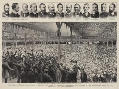 The Ulster Unionist Convention in Belfast