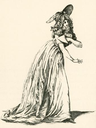 Women's Fashion During the French Revolution. from Illustrierte Sittengeschichte Vom Mittelalter Bi