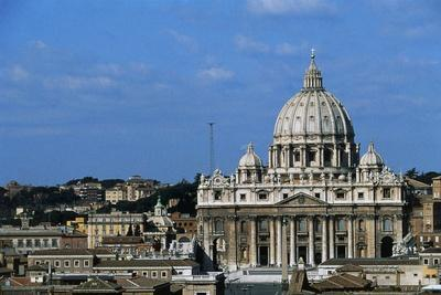 View of St Peter's Basilica from Castel Sant'Angelo (Unesco World Heritage List