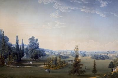 View of the Gardens of Chateau De Malmaison
