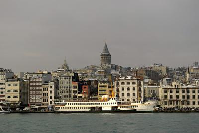 Turkey. Istanbul. Panoramic of District of Beyoglu