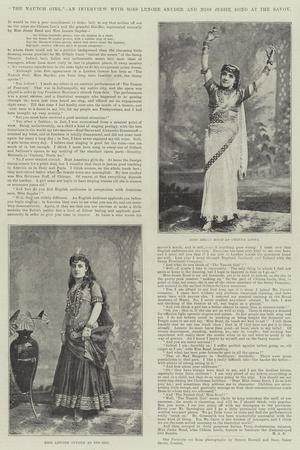 The Nautch Girl, an Interview with Miss Lenore Snyder and Miss Jessie Bond at the Savoy