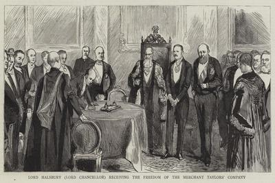 Lord Halsbury (Lord Chancellor) Receiving the Freedom of the Merchant Taylors' Company