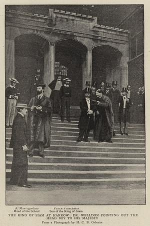 The King of Siam at Harrow, Dr Welldon Pointing Out the Head Boy to His Majesty