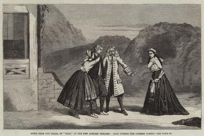 Scene from the Drama of Leah, at the New Adelphi Theatre, Leah Cursing the Lorrenz Family