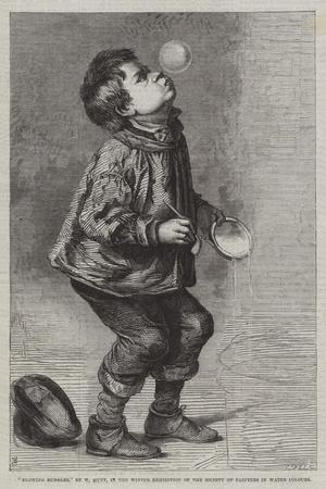 Blowing Bubbles, in the Winter Exhibition of the Society of Painters in Water Colours