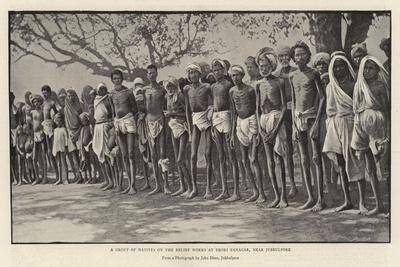 A Groups of Natives on the Relief Works at Deori Panagar, Near Jubbulpore