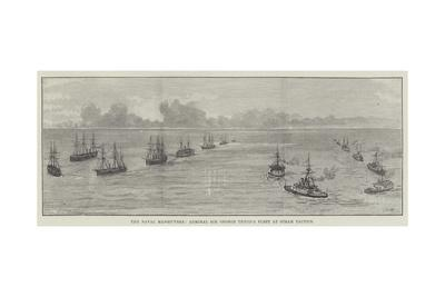 The Naval Manoeuvres, Admiral Sir George Tryon's Fleet at Steam Tactics