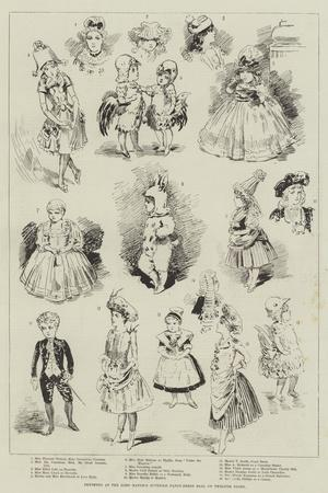 Sketches at the Lord Mayor's Juvenile Fancy-Dress Ball on Twelfth Night