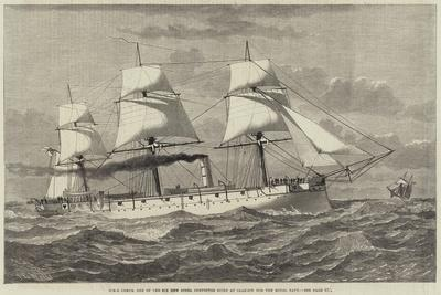 HMS Comus, One of the Six New Steel Corvettes Built at Glasgow for the Royal Navy