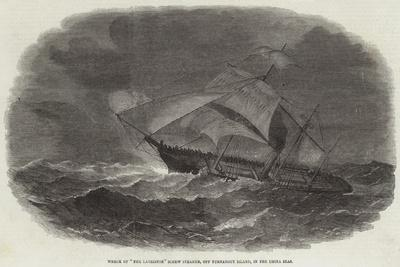 Wreck of The Larriston Screw Steamer, Off Turnabout Island, in the China Seas