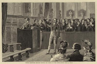 Young Gladstone Reciting before the School in the Upper School Room at Eton