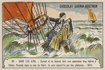 Rescue of Duruof and His Wife after their Balloon Crashed in the North Sea, 1874
