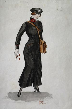 Postman's Uniform During First World War, 1916, Watercolour, Italy, 20th Century