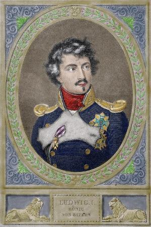 Ludwig I of Bavaria (1786-1868). King of Bavaria., 1880. Coloured