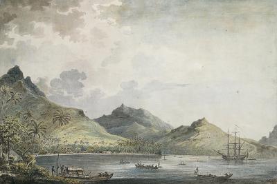 View of Huahine Island, Society Islands,. Polynesia, 18th Century