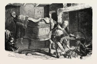 Scenes of Country Life: the Laundry. Studies by Damourette. 1855
