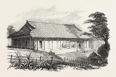 Dr Bettelheim's Residence, Loo Choo, Chinese Seas. Loo-Choo Islands, Ryukyu Islands, 1851